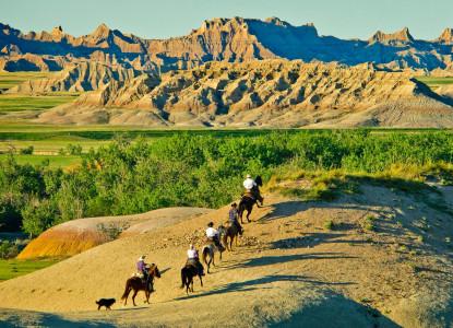 Triangle Ranch Bed & Breakfast near Badlands National Park, South Dakota, horseback riding