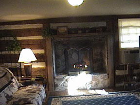 Oak Hill Farm and Cabins Living Room Fireplace