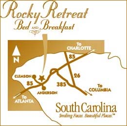 Rocky Retreat Bed & Breakfast Map