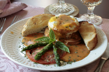 The Aberdeen Inn-Baked Eggs Louisianne