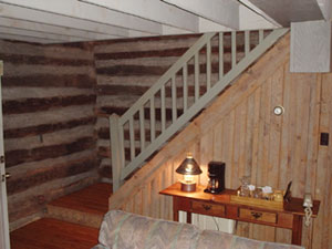 Pilot Knob Inn Staircase to Loft