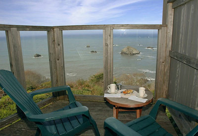 Turtle Rocks Oceanfront Inn-Enjoy the view while having your morning coffee.