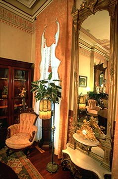 The Mainstay Inn antique Mirror in Parlor