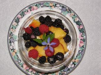 Brookside Manor Bed & Breakfast Breakfast Fruit