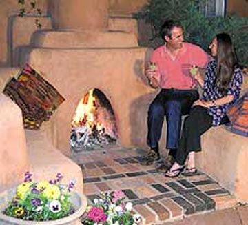 Hacienda Nicholas Bed and Breakfast-Outdoor Kiva Fireplace