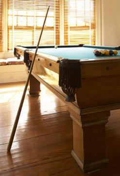 Rhythm of the Sea, A Cape May Bed & Breakfast, 1915 Oak Minn Billiard Table
