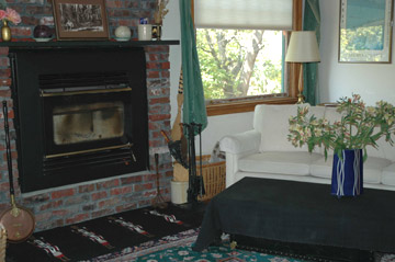 A Bed & Breakfast on Fairmount fireplace