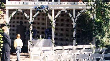 Secret Garden Bed & Breakfast-Wedding Setup in  Garden