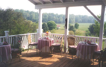 Hidden Valley Bed & Breakfast deck