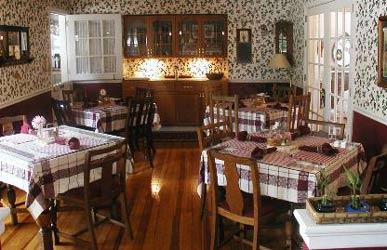 The Cabernet Inn dining room
