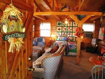 Aunt Jan's Cozy Cabin Bed & Breakfast  living room area