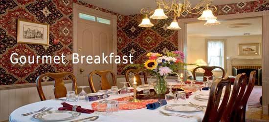 The Parsonage Inn - St. Michaels, Maryland Full Gourmet Breakfast