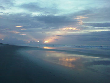 The Sunset Inn, Sunset Beach, North Carolina - Sunrise in September