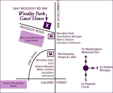 Woodley Park Guest House Wooldley Park Map