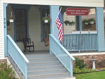 Austin Folk House Bed & Breakfast stairway