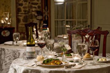 Clamber Hill Inn & Restaurant dining table