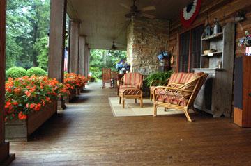 Beechwood Inn orange couches