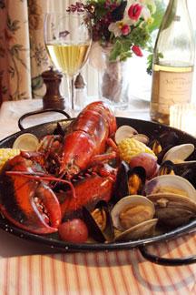 Pentagoet Inn B&B red lobster