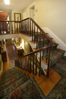 Caldwell House Bed and Breakfast, View from mid stairway