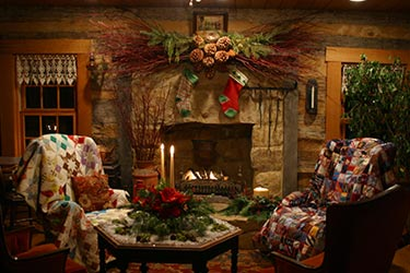 Starlight country cabin 1830 39 s floyds knobs indiana for Country cabin christmas