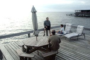 Bay Breeze Bed & Breakfast, Guests gather on the deck.