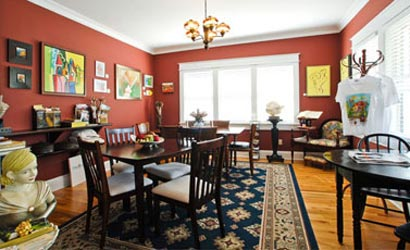 The Big Bungalow Bed & Breakfast Dining Room