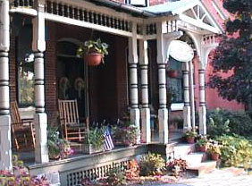 Bed and Breakfast on the Park porch