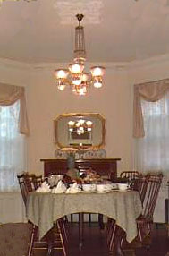 Bed and Breakfast on the Park Dining Room