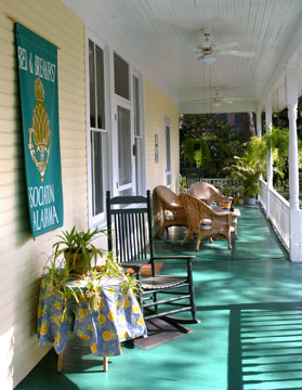 Magnolia Springs Bed & Breakfast Front Porch