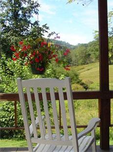 Snug Hollow Farm white chair