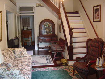 Lavender House Bed and Breakfast stairs