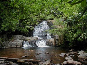 The Inn at Hickory Run, waterfall