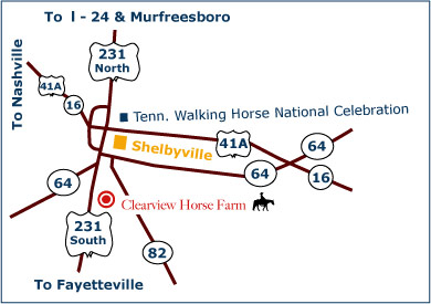 Clearview Horse Farm map