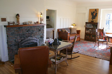 Micasa Temporary Lodging fireplace