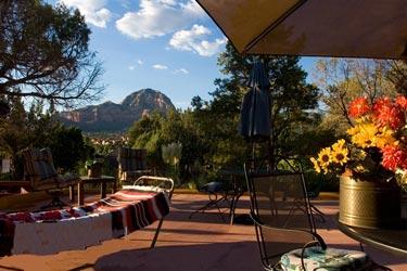 A Sunset Chateau B&B, patio mountain view