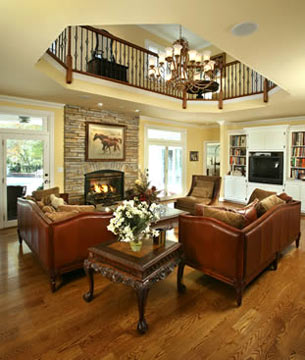 Bluegrass Country Estate living room