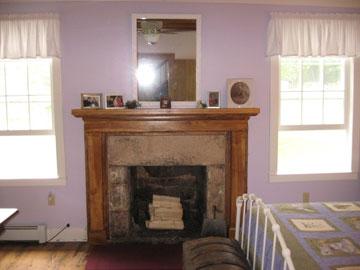 Angel Band Farm fireplace