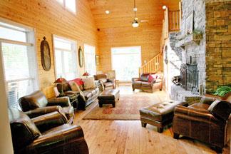 Lodge at Deer Run main room