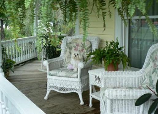 Relax on the porch.