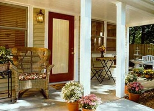 Our cottages feature private porches