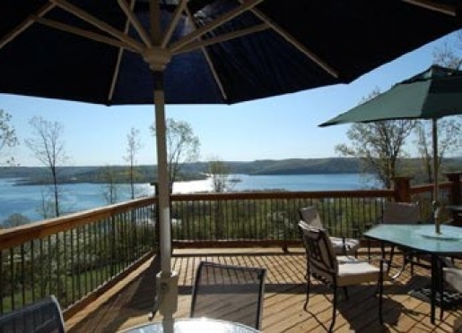 Large deck with a view of Table Rock Lake