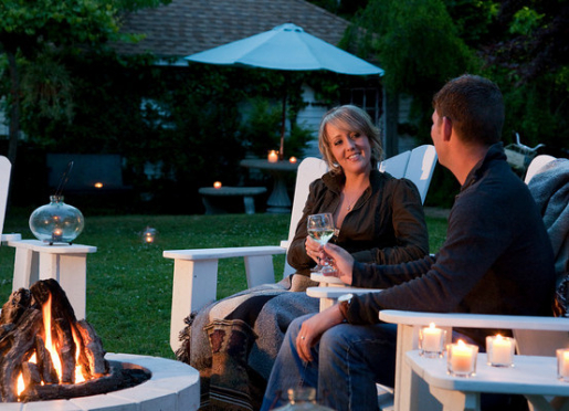 Our outdoor firepit is a great place to enjoy an evening.