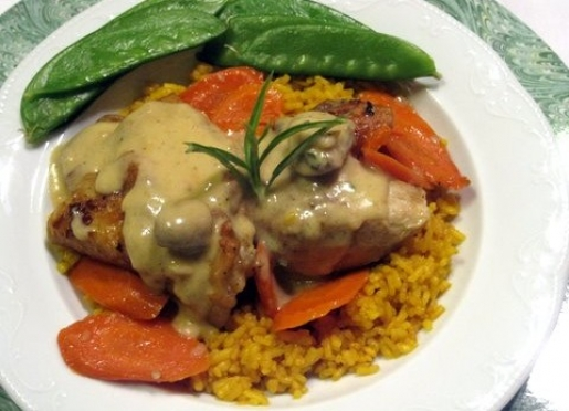 French style friccacee of chicken