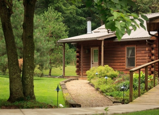Luxury Log Cabin Cottages offer romantic seclusion