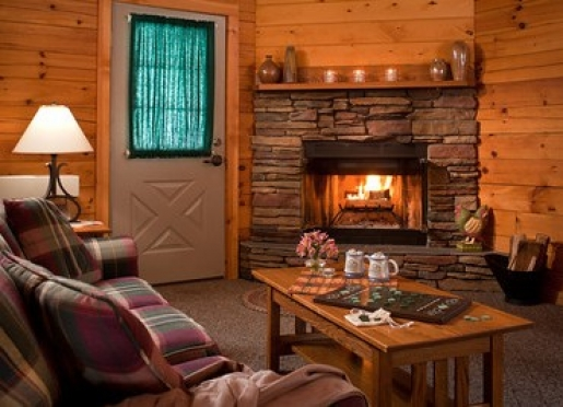Luxury Cottages have fireplaces and whirlpool tubs