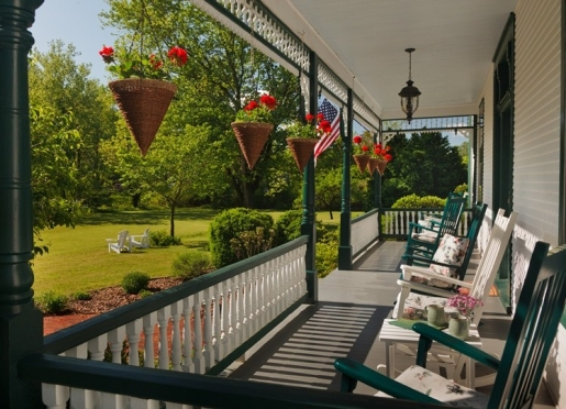 The front porch at Afton Mountain Bed & Breakfast