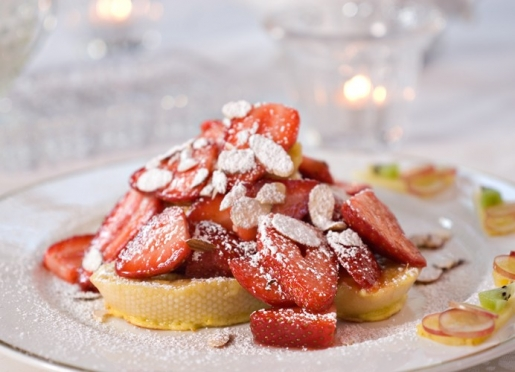 French Toast with fresh Strawberries --on of the many Chef's Breakfast Specials