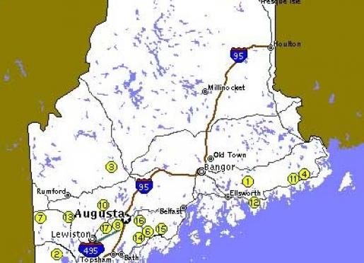 Steuben Maine Map.Maine Farm Vacation Bed Breakfast Association Maine Maine
