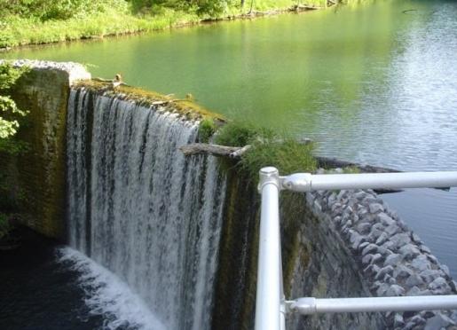 Waterfall at Mirror Lake-Blanchard Springs Caverns Recreational Area