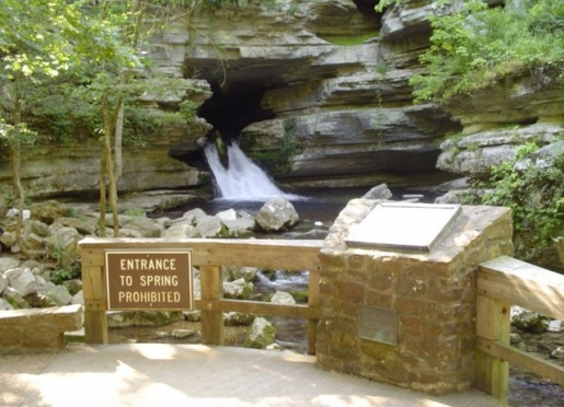 Above Ground Spring exiting Blanchard Caverns